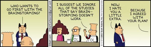 Brainstorming Dilbert