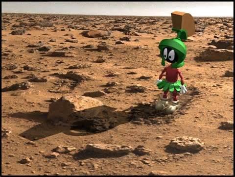 Circular structure on Mars!  Aliens-on-mars