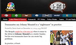 Johnny Manziel Headline