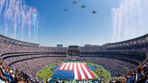 military tributes at NFL games