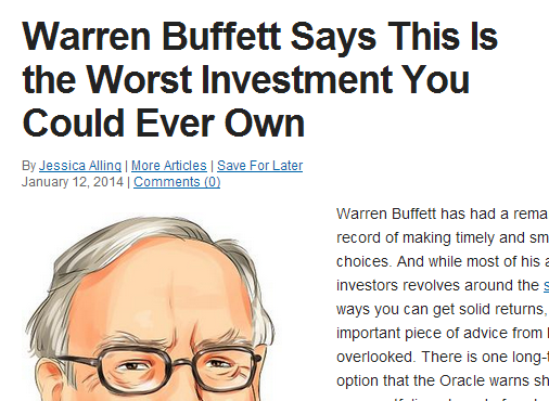 Warren Buffet Investment Strategy