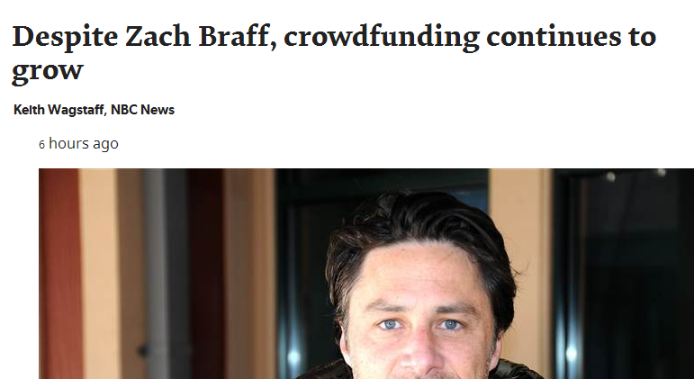 ZachBraff and Crowdfunding