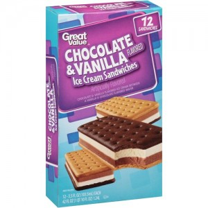 Great Value Ice Cream Sandwich