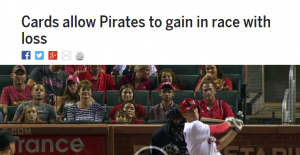 Cards Allow Pirates Headline