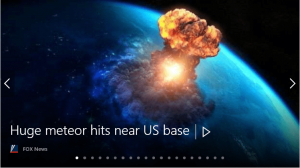 Meteor Strike Misleading Headline