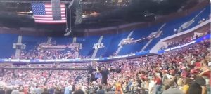 Small Turnout at the Trump Rally